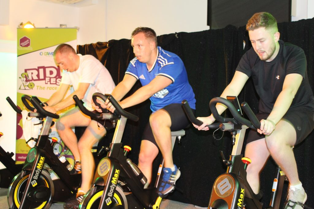 Left To Right Jason Evans Of Curtis Banks Sam Hardwick Of Breheny And Tom Roberts Of Damco Competing In The Team Race To Win The Yellow Jersey